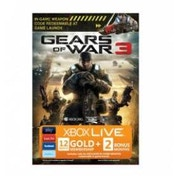 Xbox Live Gears Of War 3 Branded Gold Membership 12 Month + 2 Bonus Months 360