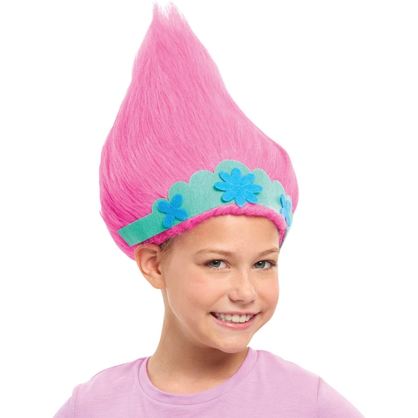 Trolls World Tour Trollific Wig - Poppy with Crown