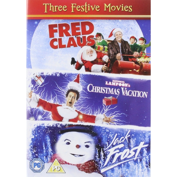 three festive movies fred clausnational lampoons christmas vacationjack frost dvd