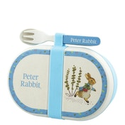Beatrix Potter Peter Rabbit Organic Bamboo Snack Box with Cutlery Set