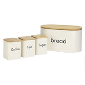 Kitchen Canister Set | M&W 4 Piece (with Bread Bin)