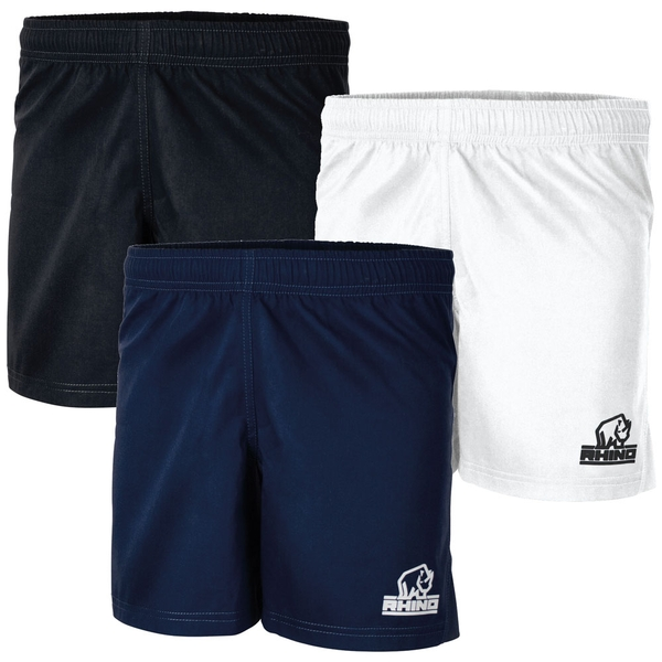 Rhino Auckland R/Shorts Junior Black - XLarge