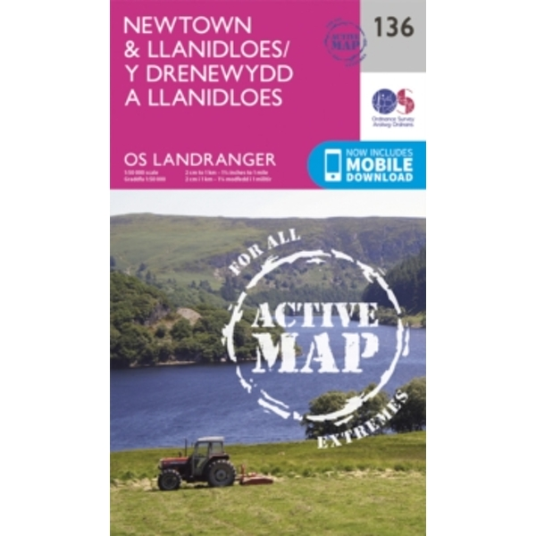 Newtown & Llanidloes by Ordnance Survey (Sheet map, folded, 2016)
