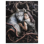 Small Soul Bond Canvas Picture by Anne Stokes