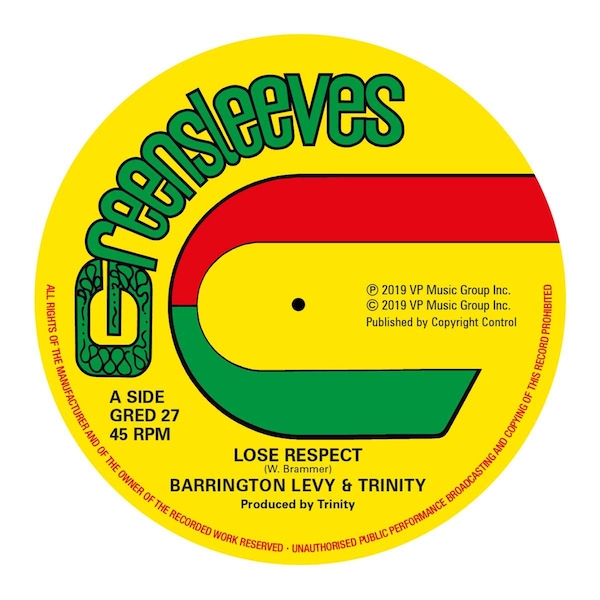 Barrington Levy & Trinity - Lose Respect Vinyl