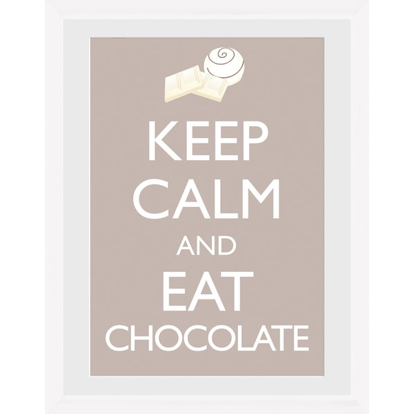 Keep Calm and Eat Chocolate Framed Photographic Print