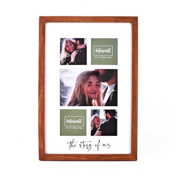 Moments Wooden Collage Frame - The Story of Us