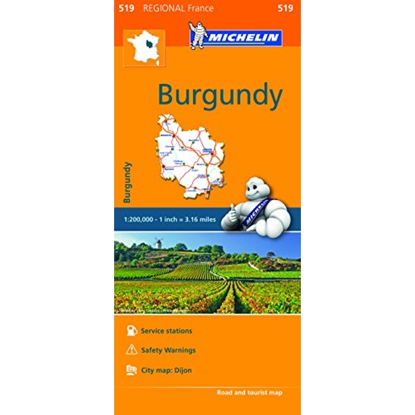Burgundy - Michelin Regional Map 519 Map Sheet map 2016