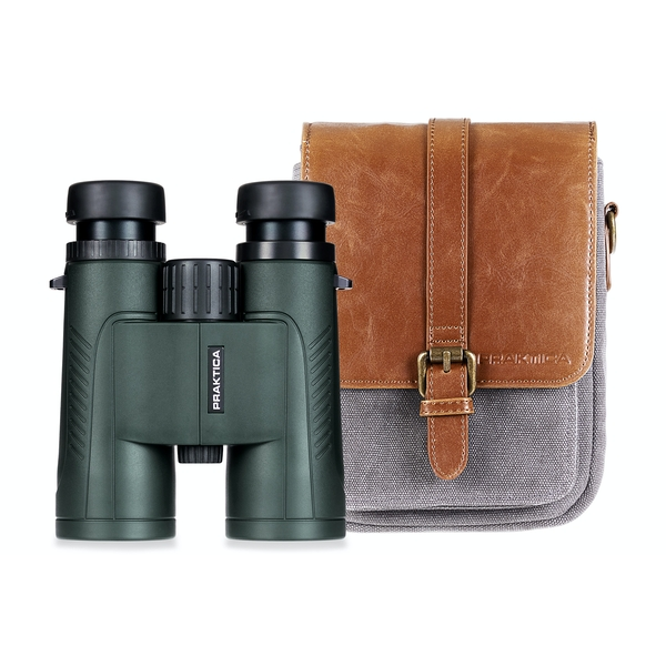 PRAKTICA Odyssey 10x42mm Green Waterproof FMC Optics Binoculars with FREE CASE