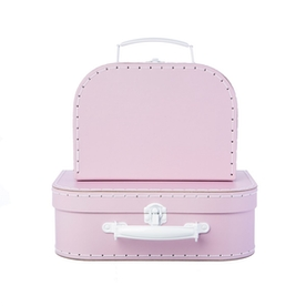 Sass & Belle Pastel Pink Suitcases  (Set of 2)
