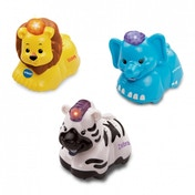 VTech Baby Toot-Toot Animals 3 Pack - Elephant, Zebra, Lion