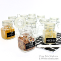 Mini Glass Spice Jars | M&W 12