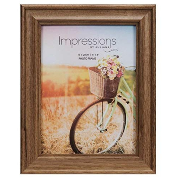 "6"" x 8"" - Natural Walnut Finish Wooden Photo Frame"