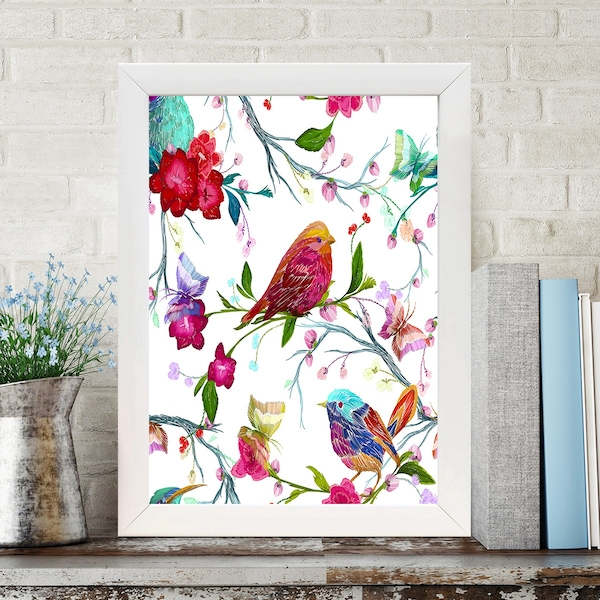 BC6117007102 Multicolor Decorative Framed MDF Painting