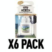 Clean  Cotton (Pack Of 6) Yankee Candle Ultimate Car Jar Air Freshener