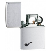 Zippo Pipe Brushed Chrome Lighter