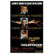 James Bond - Goldfinger Postcard