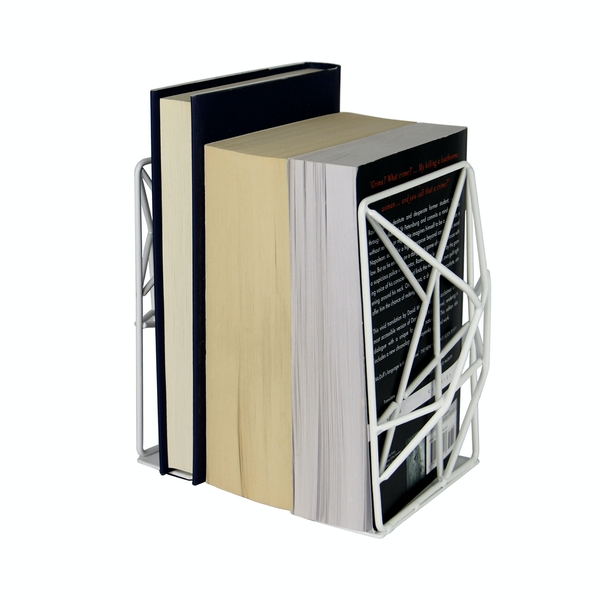 Geometric Bookends | M&W White - Image 1