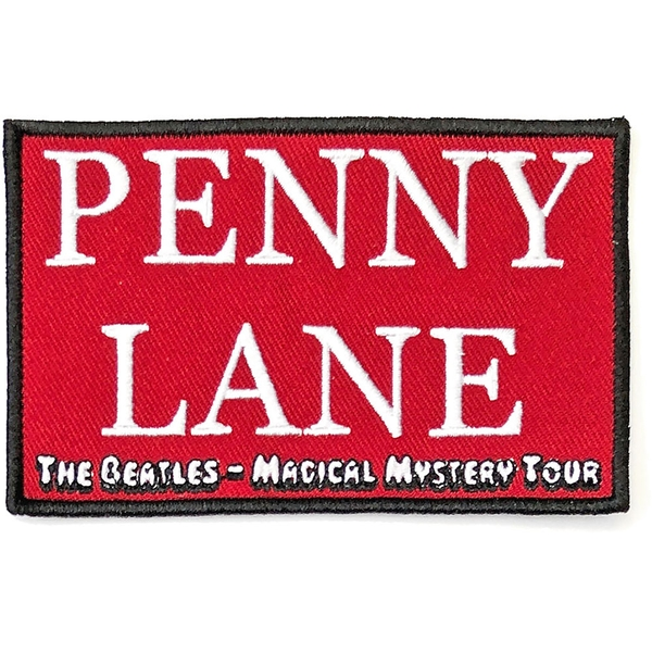 The Beatles - Penny Lane Red  Standard Patch