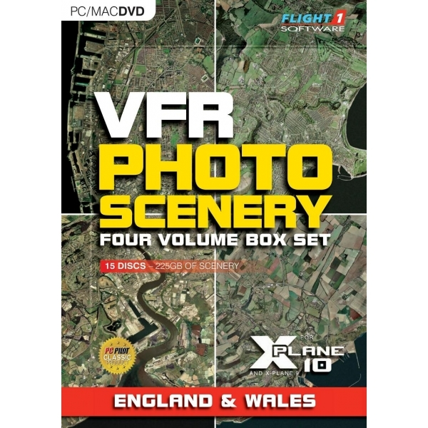 VFR Photographic Scenery For X-Plane 10 (1-4 Volume Boxset) PC & MAC