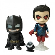 Hot Toys Armoured Batman and Flying Superman Cosbaby Set