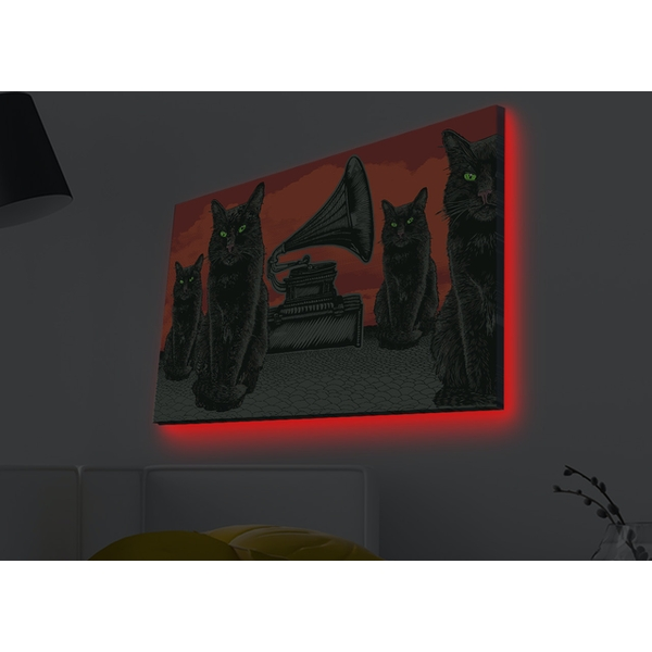 4570MDACT-008 Multicolor Decorative Led Lighted Canvas Painting
