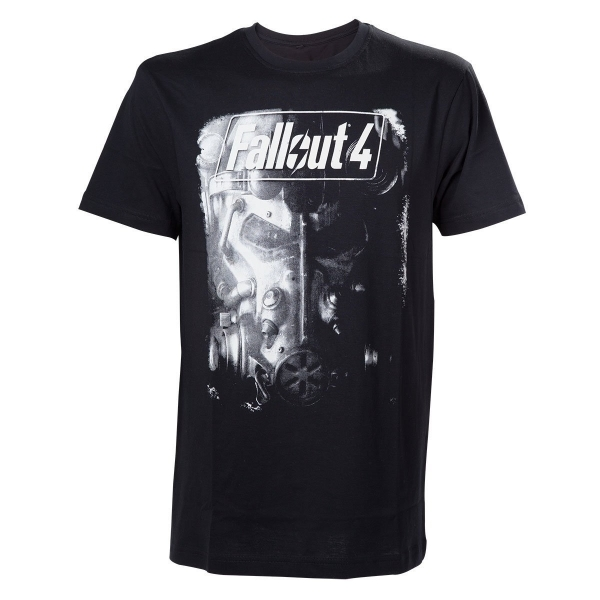 Fallout 4 Adult Male Brotherhood of Steel Small T-Shirt - Black