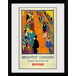 """Transport For London Brightest London 12"""" x 16"""" Framed Collector Print - Image 2"""