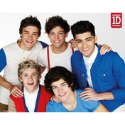 One Direction Red, White And Blue Mini Poster