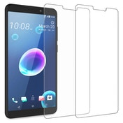 CASEFLEX HTC DESIRE 12 TEMPERED GLASS (TWIN PACK) - CLEAR