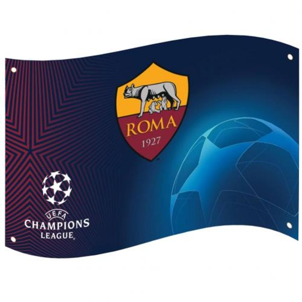 AS Roma Champions League Flag