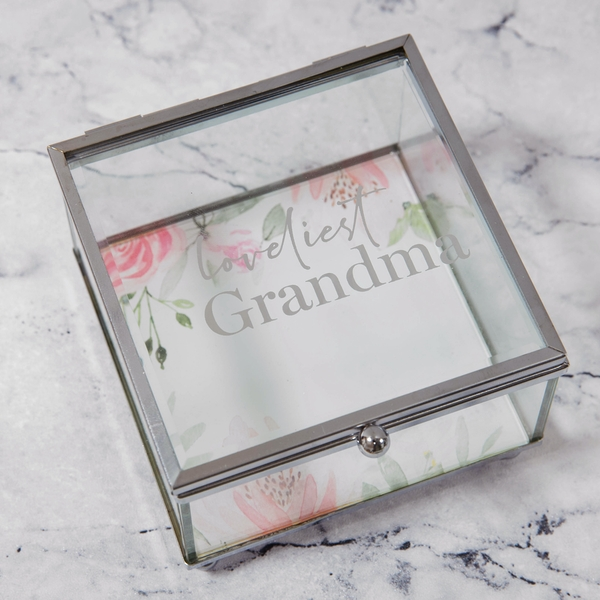 Loveliest Grandma Glass Trinket Box