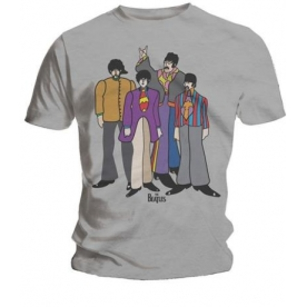 The Beatles Submarine Mens Grey T Shirt: X Large