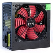 Pulse 500W PSU, ATX 12V, Active PFC, 2 x SATA, 120mm Silent Red Fan, Black Casing UK Plug