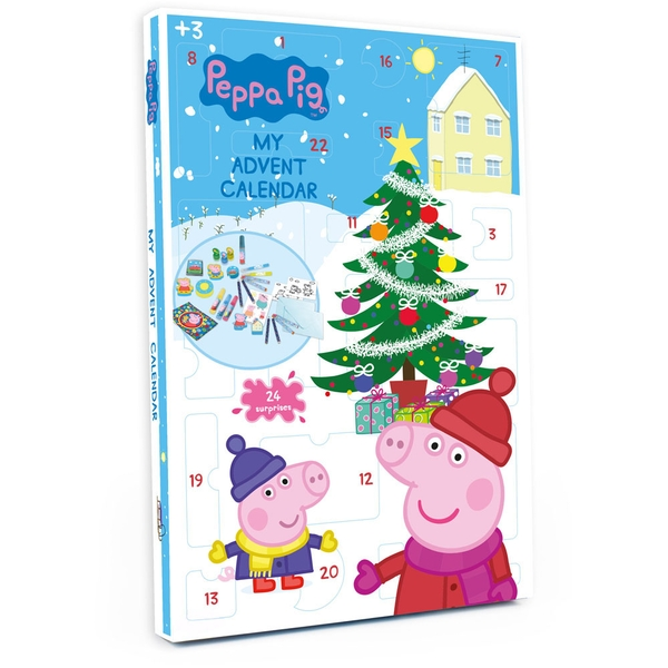 Peppa Pig Christmas Advent Calendar with 24 Surprises