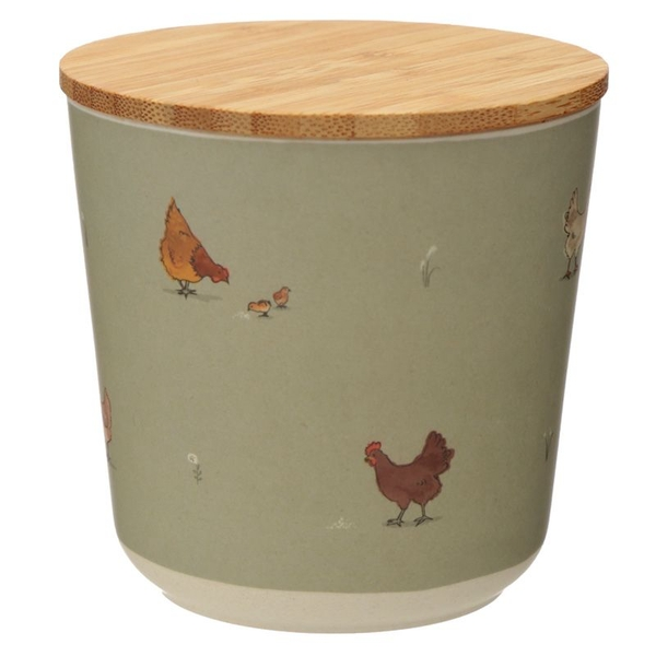 Willow Farm Bamboo Composite Small Round Storage Jar