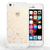 YouSave Accessories iPhone 5 / SE TPU Hard Case - Damask White