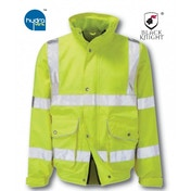 Black Knight Large Scimitar High Visibility Breathable Bomber Jacket - Yellow