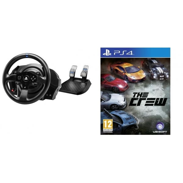 Thrustmaster T300 RS Official Force Feedback Wheel PS4 with The Crew