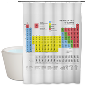 Periodic Table Shower Curtain | M&W