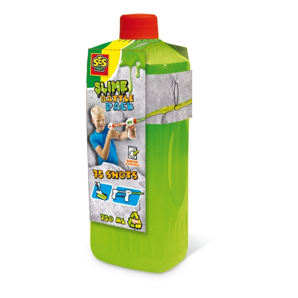 SES Creative - Children's Slime Battle Pack Fluorescent Green Refill Bottle 750ml (Green)