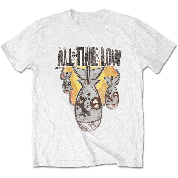 All Time Low - Da Bomb Unisex Large T-Shirt - White