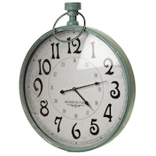 Mint Metal Framed Stopwatch Wall Clock
