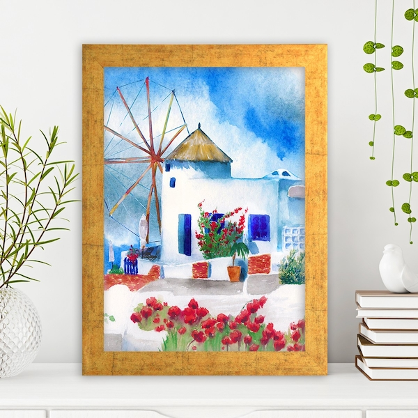 AC21096017848 Multicolor Decorative Framed MDF Painting