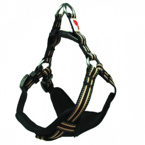 Long Paws Black Comfort Collection Padded Harness L
