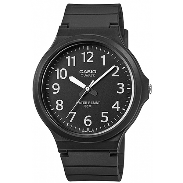 Casio MW-240-1BVEF Mens Analogue Watch with Resin Strap Black