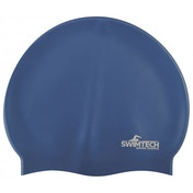 SwimTech Silicone Swim Cap Royal Blue