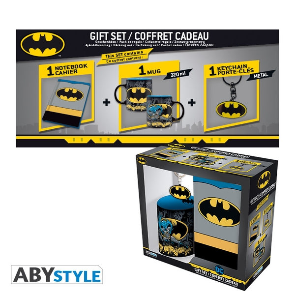 DC Comics - Mug 320ml + Keyring + Notebook Batman Gift Box