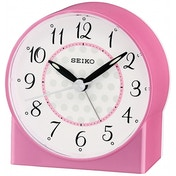 Seiko QHE136P Sweep Second Hand Beep Alarm Clock Pink