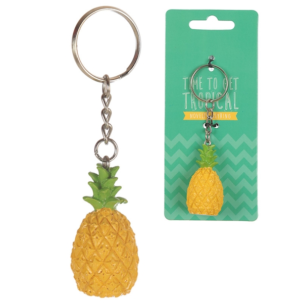 Pineapple Tropical Keyring